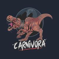 t-rex carnívoro selvagem e feroz vetor
