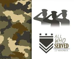 cartão comemorativo do dia dos veteranos