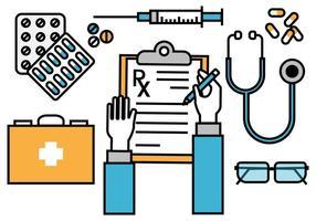 Ilustração médica livre da ilustração da almofada da prescrição médica