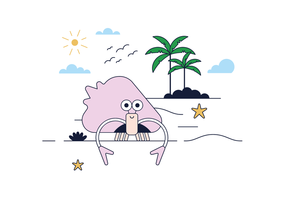 Vetor de casca de caranguejo grátis