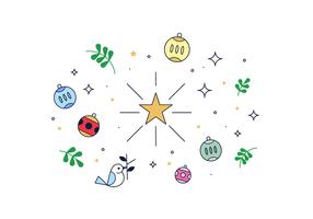 Vector grátis da estrela do Natal