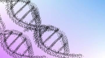 fundo do conceito de DNA poligonal vetor