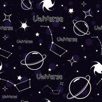 padrão sem emenda de constelação de céu estrelado vetor