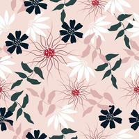 doce padrão floral rosa vetor