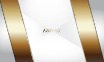 design metálico realista com ângulos de ouro e prata vetor