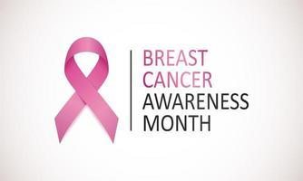 pôster do mês de conscientização do câncer de mama vetor