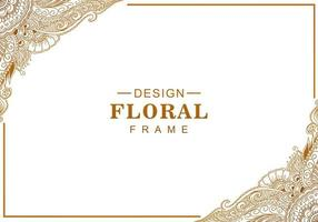 moldura floral dourada decorativa artística vetor