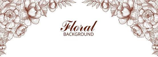banner floral decorativo abstrato vetor