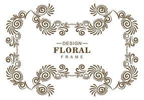 moldura floral decorativa luxuosa vetor