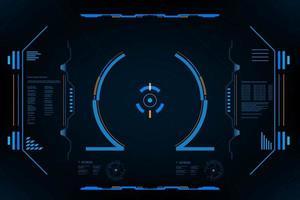 interface do usuário hud panel vr