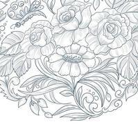 cartão de casamento decorativo design floral vetor