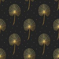 folhagem tropical, doodle padrão sem emenda