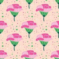 padrão sem emenda de flores silvestres vetor