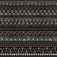 padrão tribal ouro sem costura