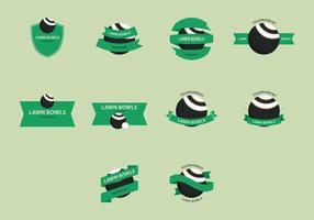 Conjunto de ícones do gramado vetor