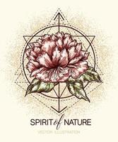 pôster geométrico e floral