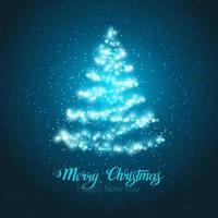 cartão de árvore de natal brilhando