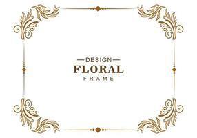 ornamento decorativo design criativo floral moldura vetor