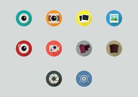 Conjunto de ícones móveis Camara vetor