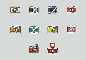 Conjunto de ícones da Camara vetor