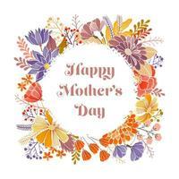 feliz dia das mães cartão vetor