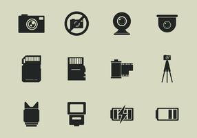 Conjunto de ícones de ferramentas Camara vetor