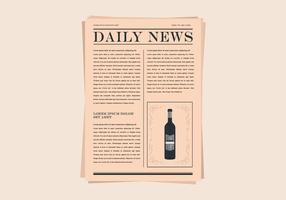 Ilustração do jornal antigo vetor