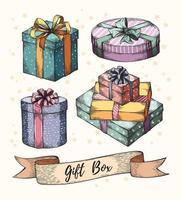 coleção de caixas de presente