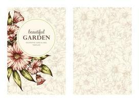 modelo de cartão floral vetor