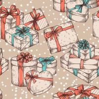 caixas de presente sem costura de fundo