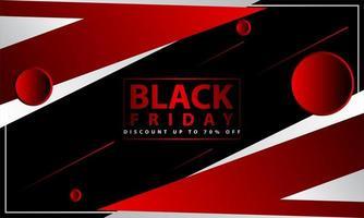 preto sexta-feira desenho geométrico vermelho, branco e preto vetor