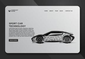 modelos de página da web de um carro esporte vetor