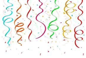 conjunto de fitas de confetes coloridos abstratos vetor