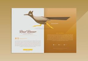 Modelo da Página da Web Roadrunner vetor