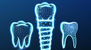 dente implante dentário desenho abstrato vetor