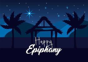 cartão de feliz epifania