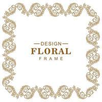 redemoinho decorativo decorativo floral moldura vetor