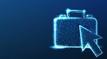 ponteiro do cursor e design da pasta vetor