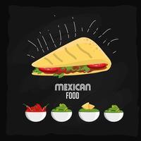 design de comida mexicana vetor