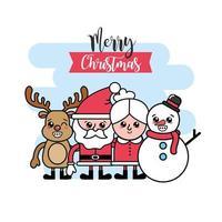 cartão de Natal com personagens