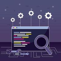 conceito de programação e codificação vetor