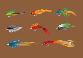 Vetor de truta de pesca com mosca livre