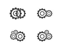 conjunto de máquinas de engrenagens vetor