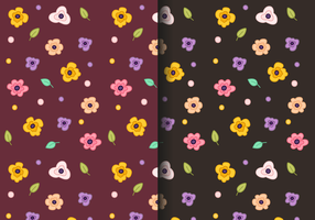 Vector de padrões florais grátis