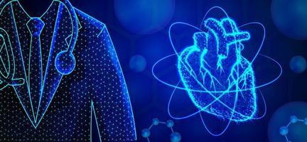 design abstrato especialista em cardiologia vetor