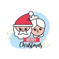 cartão de Natal com personagens vetor