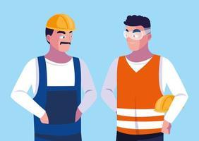 avatar cartoon engenheiro masculino vetor