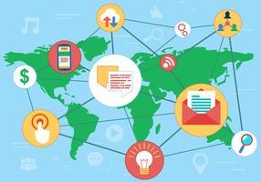 Vector de rede de redes sociais grátis