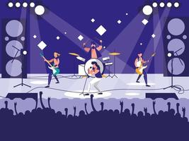 estádio com show de rock vetor
