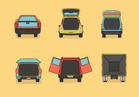 Cor da ilustração do vetor de inicialização do carro